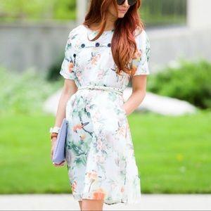 Crescent Spring Floral Dress NWT